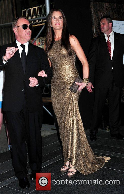 Michael Kors and Brooke Sheilds leaving the Carlyle...