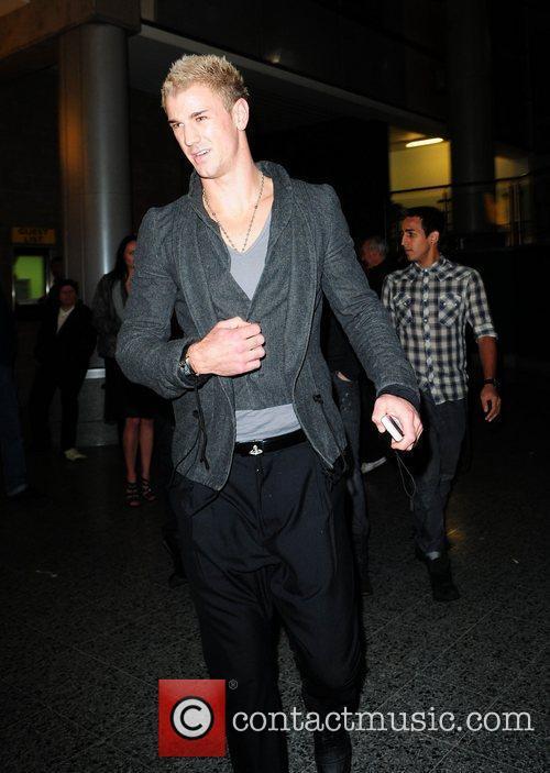 Joe Hart celebrities arrive at the MEN Arena...