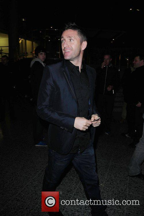 Celebrities arrive at the MEN Arena Manchester to...