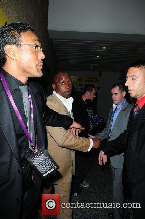 Nigel Benn celebrities arrive at the MEN Arena...
