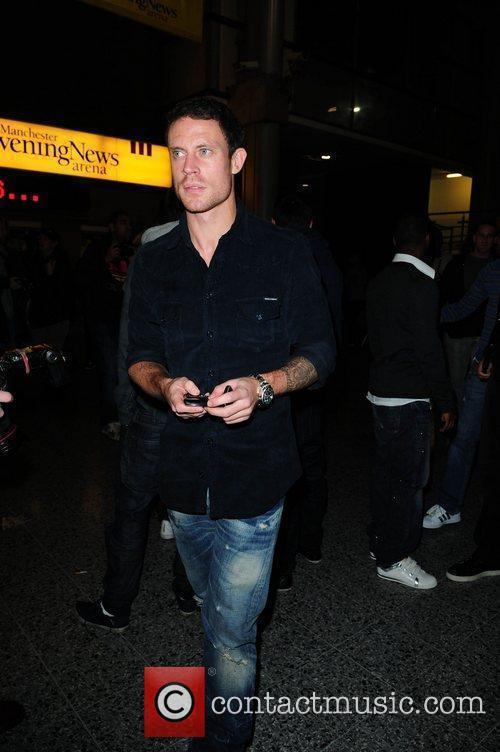 Wayne Bridge celebrities arrive at the MEN Arena...