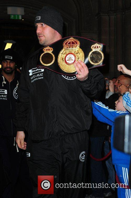 David Haye's Belt David Haye and John Ruiz...