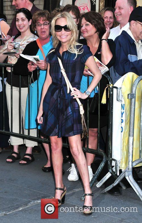 Arriving to perform in the musical 'Promises, Promises'...