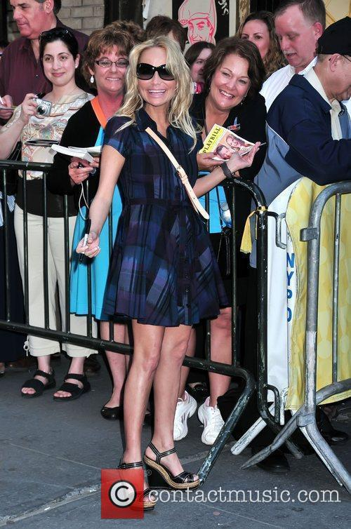 Kristin Chenoweth arriving to perform in the musical...