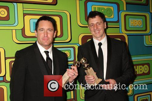 Trent Reznor and Atticus Ross at the 2011 Golden Globes