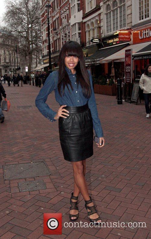 Jade Ewen of the Sugababes  Celebrities outside...