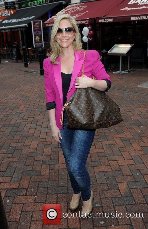 Heidi Range of the Sugababes arrives for the...
