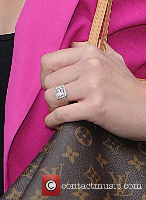 Heidi Range of the Sugababes, showing her engagement...