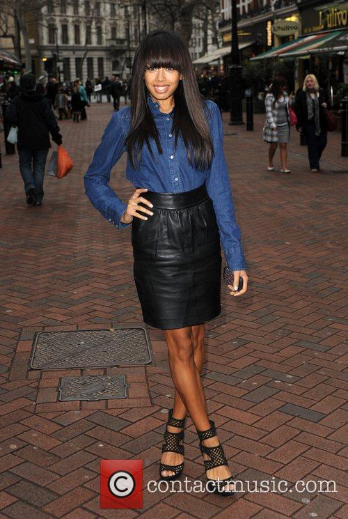 Jade Ewen of the Sugababes arrives for the...