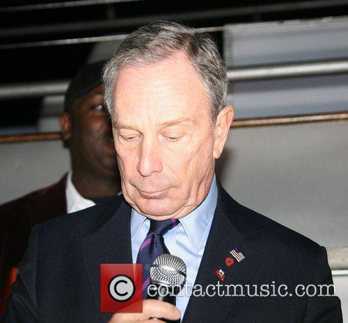 Mayor Michael Bloomberg Hearts 4 Haiti featuring held...