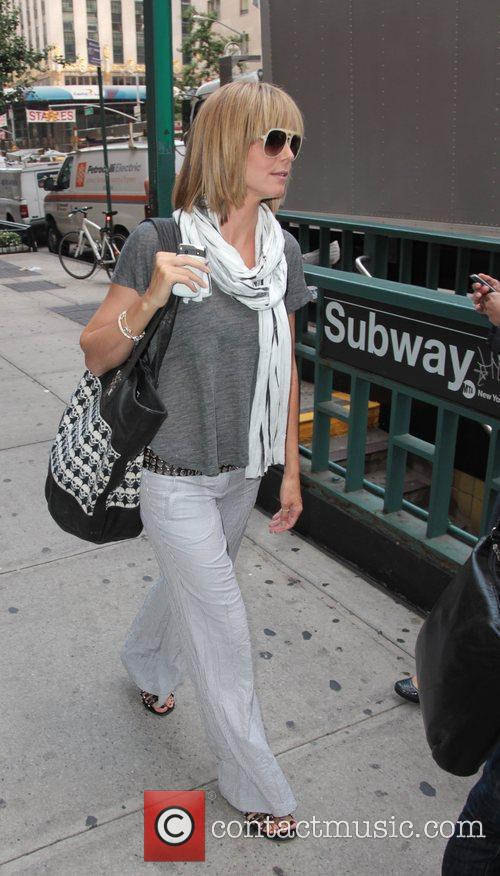 Heidi Klum is seen stepping into Zibetto for...