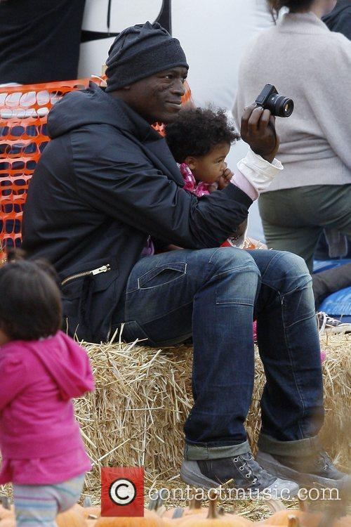 Seal and his daughter Lou Sulola Samuel at...
