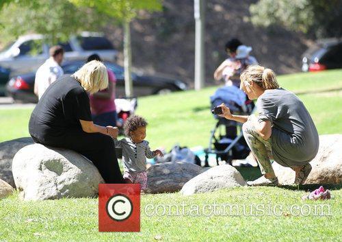 Heidi Klum, her Mother Erna and daughter Lou...