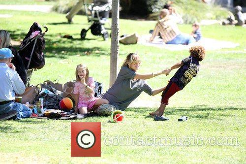 Heidi Klum, her father Gunther and children Leni...