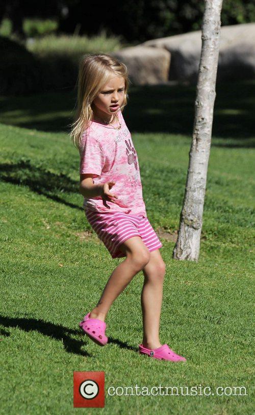 Heidi Klum's daughter Leni enjoy's the day at...