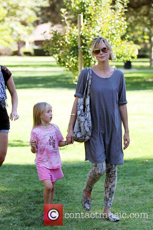Heidi Klum and her daughter Leni enjoy the...