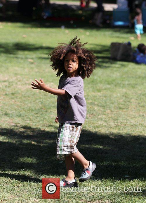 Heidi Klum's son Henry enjoy's the day at...
