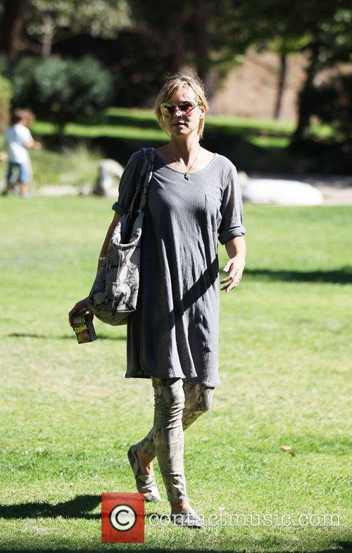 Heidi Klum enjoy's the day at Coldwater Canyon...