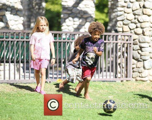 Heidi Klum's children Johan Riley, Henry and Leni...
