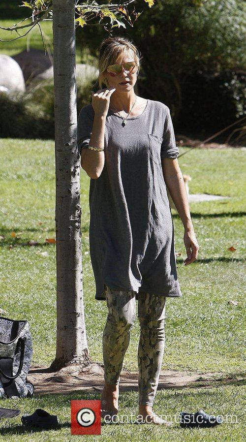Heidi Klum enjoy's a family day out at...