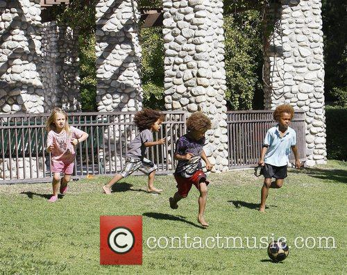 Heidi Klum's children Leni, Henry, Johan Riley and...