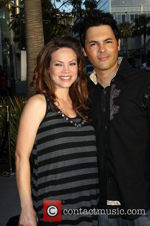 Michael Saucedo and Rebecca Herbst Heidi Klum launches...