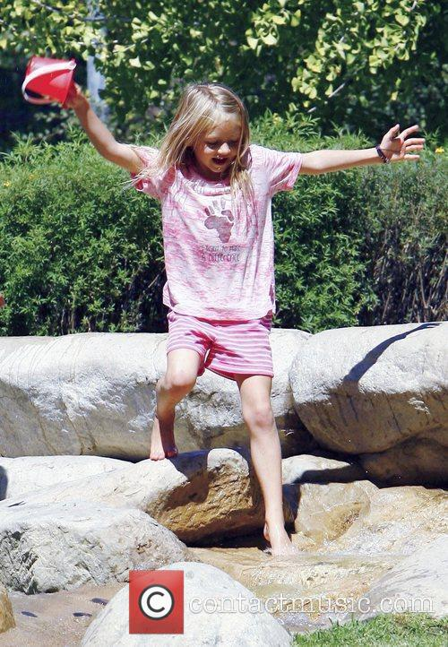 Heidi Klum's daughter Leni enjoy the day at...