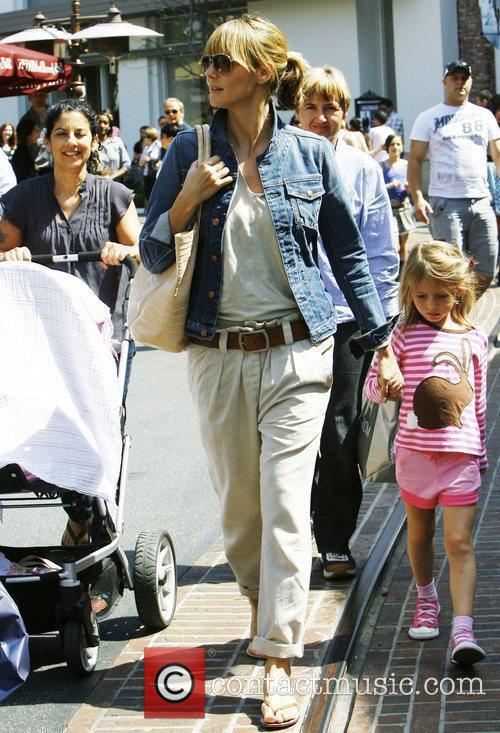 German supermodel Heidi Klum with her mother and...