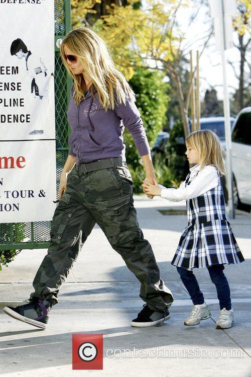Heidi Klum takes her daughter to karate class