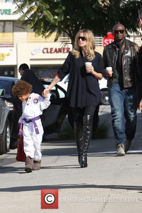 Heidi Klum, Seal and their son Henry Heidi...