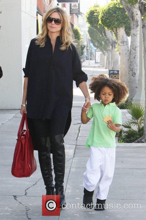 Heidi Klum with son, Johan Heidi Klum and...