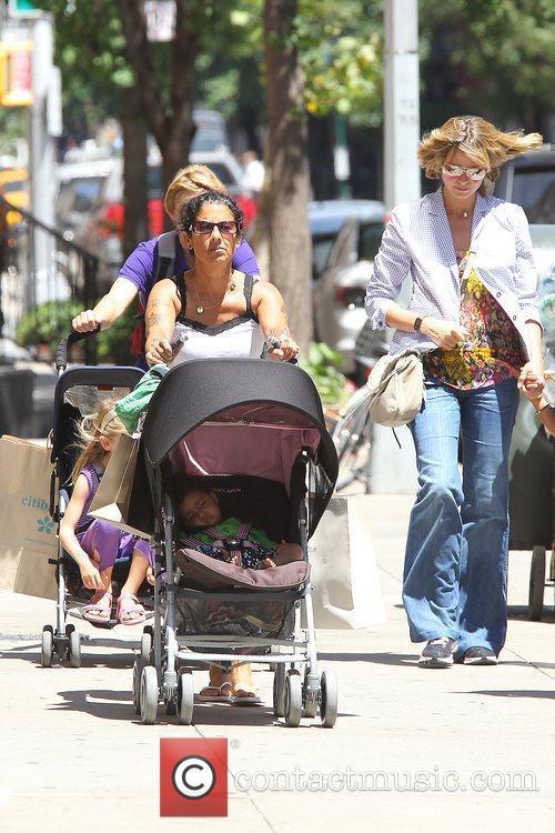 Heidi Klum with Leni, and Lou Heidi Klum...