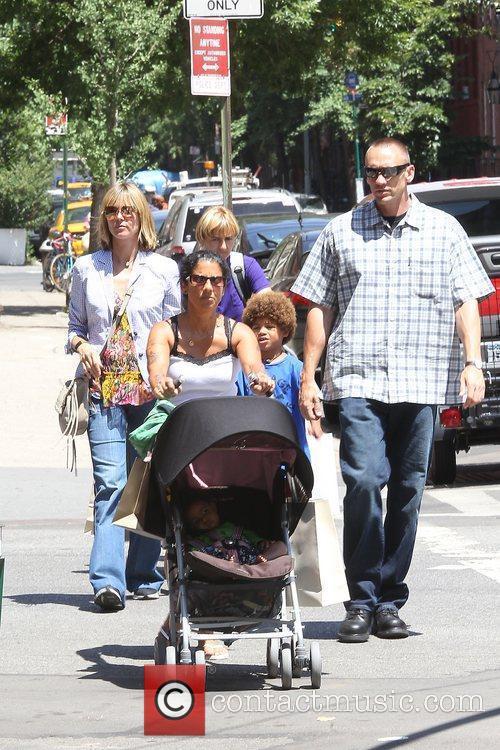 Heidi Klum with Henry, Johan, Leni, and Lou...