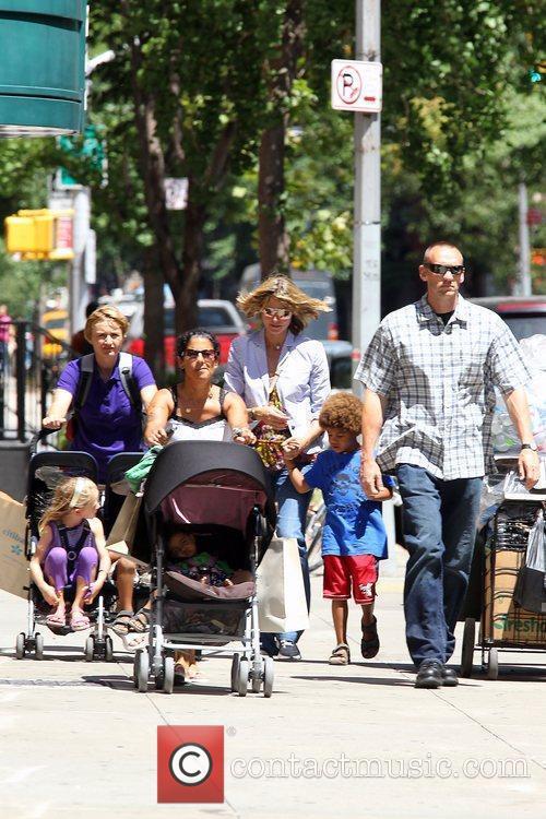 Heidi Klum with Henry, Leni, and Lou Heidi...