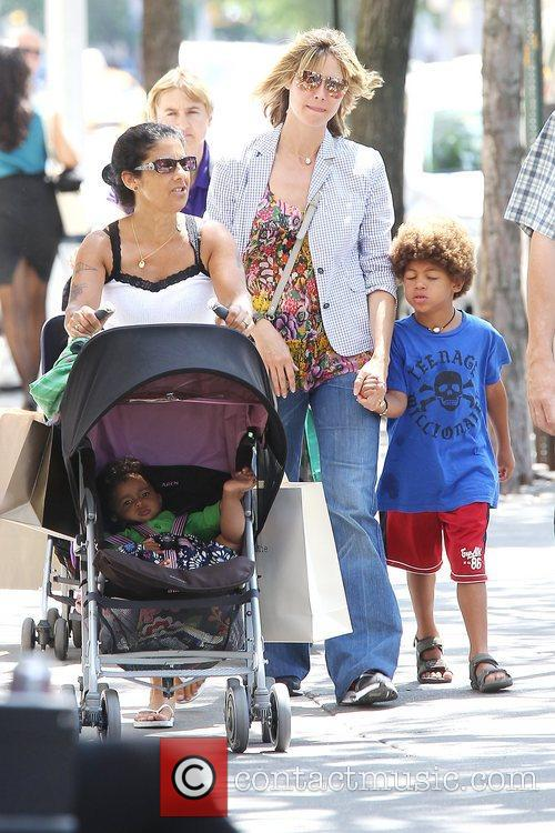 Heidi Klum out and about with her children...