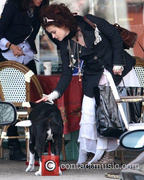 Helena Bonham Carter having lunch in Malibu Los...