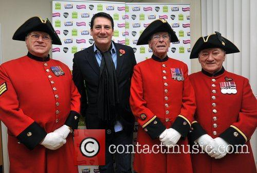 Tony Hadley with Chelsea Pensioners Help for Heroes...