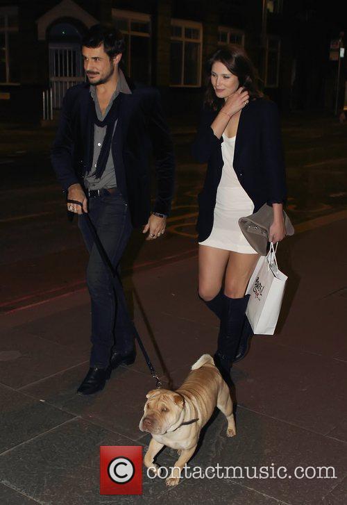 Gemma Arterton, husband Stefano Catelli and their dog...