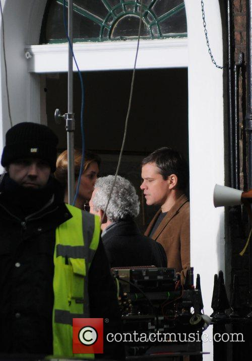 Matt Damon on the set of 'Hereafter' London,...