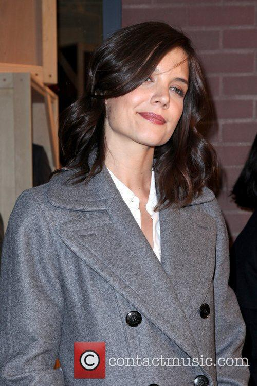 Katie Holmes Hermes Men's Store grand opening New...