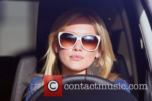 Hilary Duff leaving Byron & Tracey Salon in...