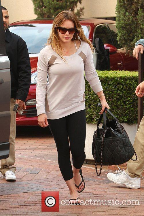 Hilary Duff  is seen leaving the gym...