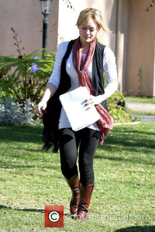 Hilary Duff leaving a private residence in North...