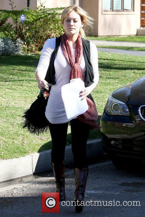 Leaving a private residence in North Hollywood while...