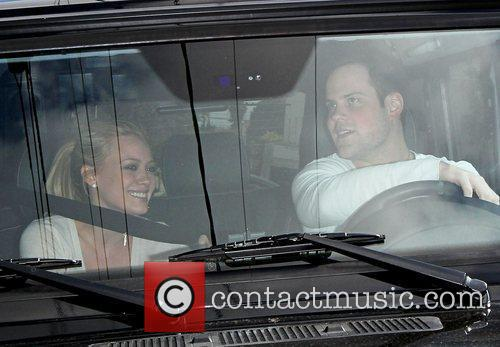 Hilary Duff, Her Fiance, Mike Comrie, A Canadian Professional Ice Hockey Player and Are Dropped Off At Hillary's Mercedes Suv After Being Taken To Look At Furniture By A Salesman. 6