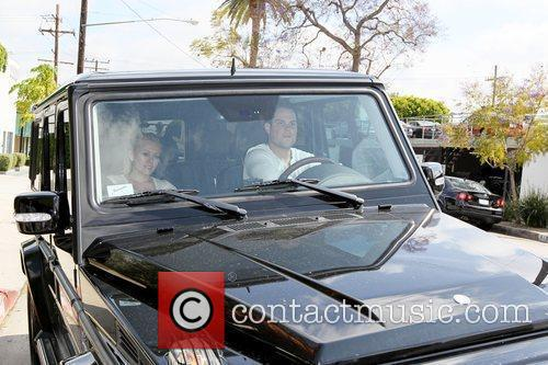 Hilary Duff, Her Fiance, Mike Comrie, A Canadian Professional Ice Hockey Player and Are Dropped Off At Hillary's Mercedes Suv After Being Taken To Look At Furniture By A Salesman. 4