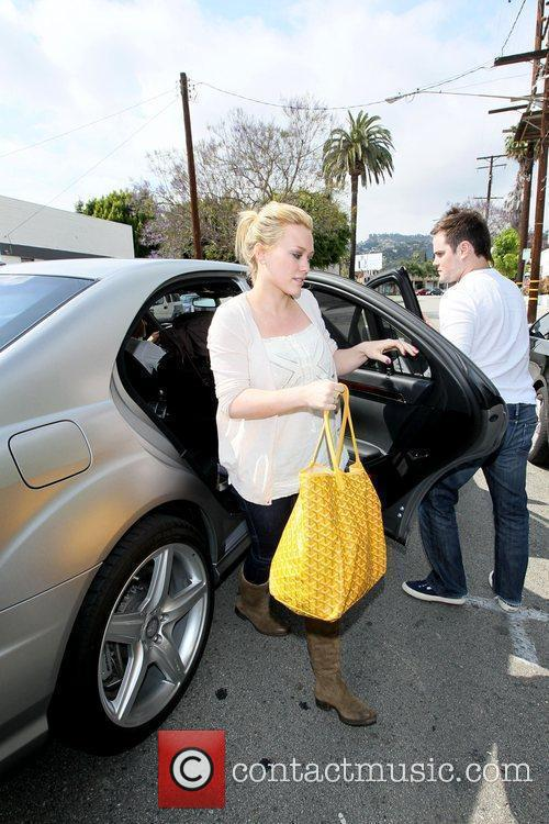 Hilary Duff, Her Fiance, Mike Comrie, A Canadian Professional Ice Hockey Player and Are Dropped Off At Hillary's Mercedes Suv After Being Taken To Look At Furniture By A Salesman. 3
