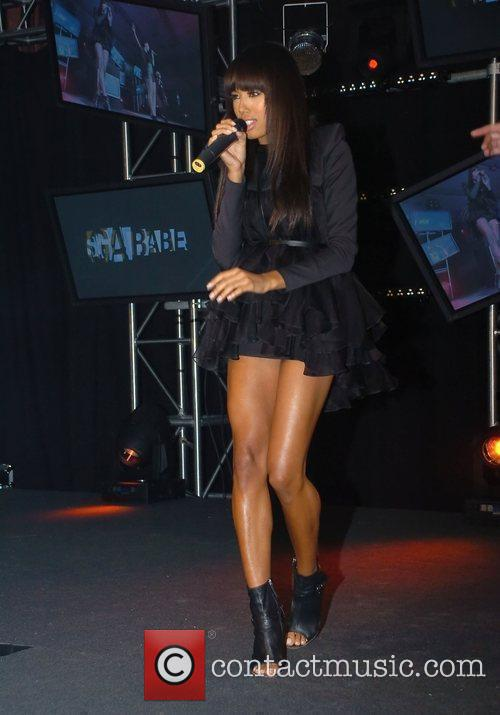 Jade Ewan of the Sugababes performing at the...