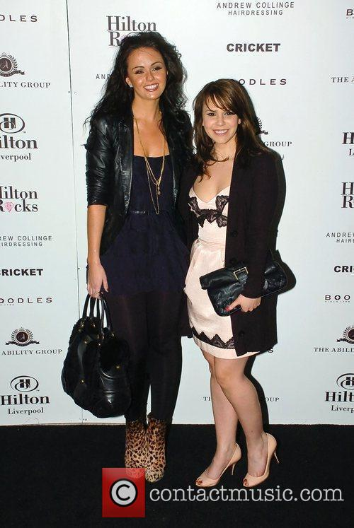 Jennifer Metcalfe and Jessica Fox at the opening...
