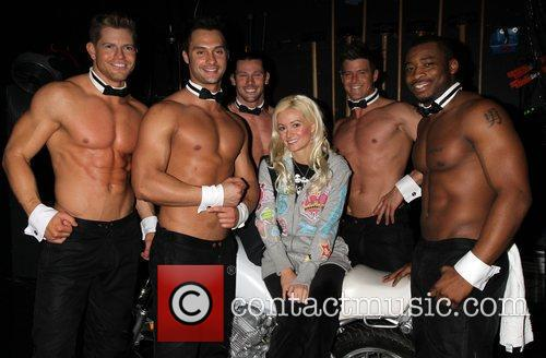 Playboy Playmate Holly Madison visits The Chippendales Show...